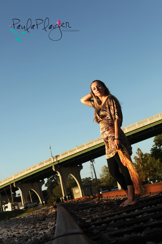 Olga + bridge + railroad = perfect picture!